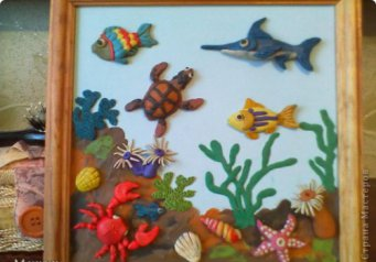 морское дно картинки из пластилина