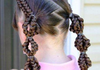 Как заплести волосы прически для девочек 96