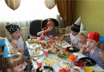 Подарки для ребенка меню