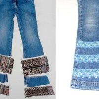 Удлинить детские джинсы